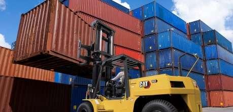 Xe nâng dầu 10-16 tấn mới Cat DP100-160(S)NL - Phú Thái Cat