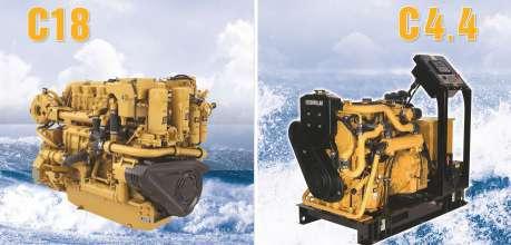 Giới thiệu động cơ máy thủy C18 và máy phát điện C4.4 - Phú Thái Cat