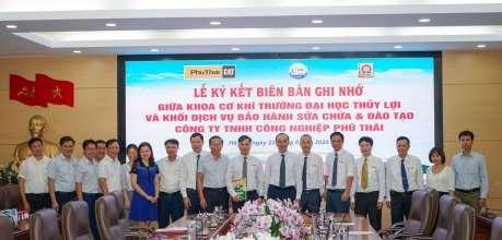 Phú Thái Cat và Đại học Thủy Lợi ký Biên bản ghi nhớ - Phú Thái Cat